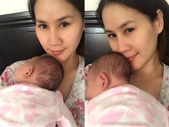 Thân Thúy Hà mất ngủ, mệt mỏi và sụt ký liên tục vì con gái khó chịu khóc la mọi lúc