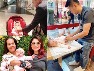 Thanh Thảo khoe chồng Việt kiều đảm đang: Thay tã, cho con bú để vợ tha hồ mua sắm