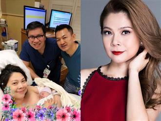 Vừa ra khỏi phòng sinh, Thanh Thảo xúc động khoe mặt con gái giống mình y đúc