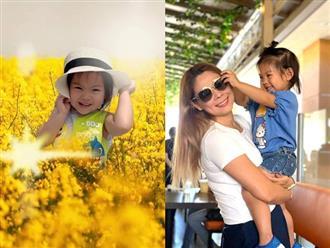 Thanh Thảo tự hào con gái 2 tuổi đã nói được 3 thứ tiếng, biết lau nhà, vứt rác, tưới cây phụ ba mẹ