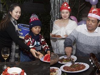 Thanh Thúy 'vác' bụng bầu 8 tháng cùng con trai chuẩn bị sinh nhật ý nghĩa cho ông xã Đức Thịnh