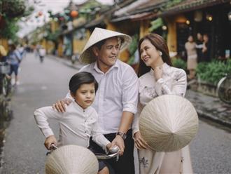 Sau tin đồn rạn nứt, vợ chồng Thanh Thúy - Đức Thịnh chụp ảnh hạnh phúc, ngọt ngào bên con trai tại Hội An