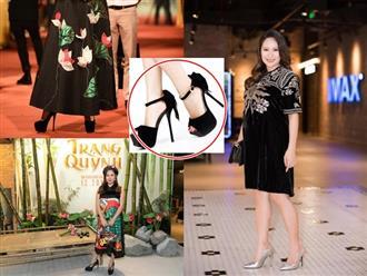 Bụng bầu to tướng, Thanh Thúy khiến fan 'thót tim' khi sải bước trên giày cao gót gần 20cm