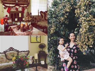 Thích mê khi ngắm biệt thự triệu đô, hoa trái trĩu quả của 'Út Ráng' Kim Hiền tại Mỹ