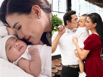 Sau gần 2 năm làm mẹ, Thúy Diễm chia sẻ áp lực chăm con, stress khi chồng vắng nhà