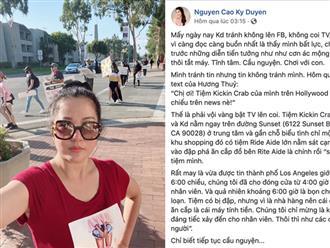 Thuý Nga và dàn sao Việt cập nhật tình hình tại Mỹ, MC Nguyễn Cao Kỳ Duyên lên TV vì cửa hàng ở Hollywood bị đập phá