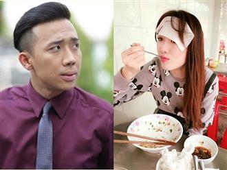 Trấn Thành khóc ròng khi chứng kiến cảnh Hari Won ăn uống bất chấp, mồ hôi nhễnhại