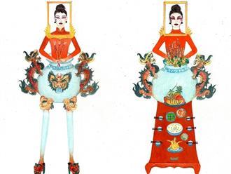 Trang phục 'Bàn thờ' cho Hoàng Thùy thi Miss Universe gây tranh cãi