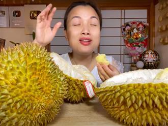 Trời ơi ngất luôn với chị Quỳnh Trần: Mukbang sầu riêng siêu to siêu béo 1,2 triệu đồng, xem đêm nay khỏi ngủ