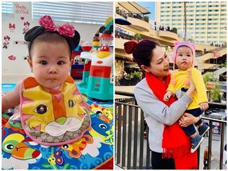 Trộm vía con gái Thanh Thảo mũm mĩm đáng yêu hết nấc, mới 8 tháng đã mặc đồ trẻ 18 tháng tuổi