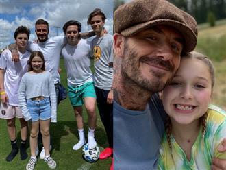 """Tròn 9 tuổi, tiểu thư nhà Beckham """"trổ mã"""" ngày càng xinh đẹp, nhìn ảnh chụp cùng các anh mới bất ngờ"""