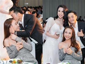 Trước hàng trăm ánh mắt, Cường Đô la công khai làm hành động ngọt ngào này với Đàm Thu Trang