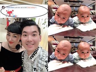 Trương Nam Thành khoe cặp song sinh mừng 1 năm ngày cưới, Thanh Bình vào nhắn nhủ xúc động