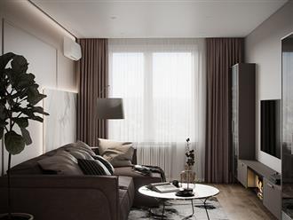 Tư vấn thiết kế căn hộ thô có diện tích 54m² với tổng chi phí 83 triệu đồng