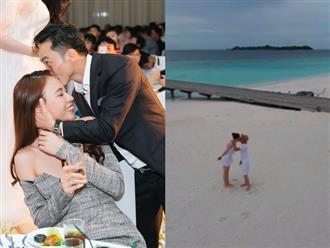Tung ảnh 'khóa môi' bạn gái nồng cháy, Cường Đô la bị nghi đang chụp ảnh cưới cùng Đàm Thu Trang