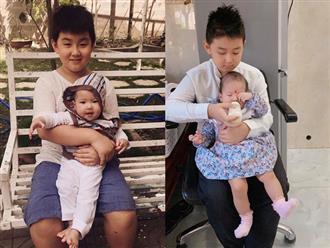Từng phản đối mẹ sinh em, giờ con trai Lê Phương lại mong có thêm em để tha hồ chăm sóc