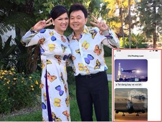 Vợ cũ Bằng Kiều quặn đau khi nhận tin nhắn của vợ NS Chí Tài sáng nay: 'Anh Tài đang bay về với bé Heo'