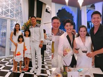 Vợ chồng Bình Minh hội ngộ loạt sao Việt khi đi dự sinh nhật bạn thân