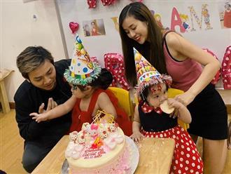 Hiếm lắm vợ chồng Hoài Lâm mới khoe ảnh gia đình 4 thành viên, đủ mặt hai con gái