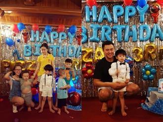 Vợ chồng MC Tuấn Tú tổ chức tiệc sinh nhật 3 tuổi cho con trai
