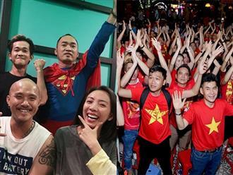 Vợ chồng Thu Trang - Tiến Luật, Kiều Minh Tuấn cùng sao Vbiz hãnh diện khi đội tuyển Việt Nam thắng Indo ở vòng loại World Cup