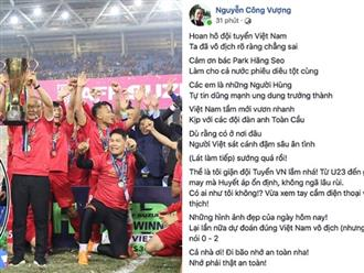 Vượng râu ứng khẩu thành thơ, Hoàng Bách thấy Tết sớm khi Việt Nam vô địch AFF Cup
