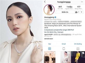 Vượt mặt Phạm Hương và Kỳ Duyên, Hương Giang là Hoa hậu đầu tiên ở Việt Nam cán mốc 1 triệu lượt follower trên instagram