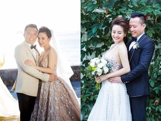 Sau nhiều năm chung sống, Vy Oanh bất ngờ tung ảnh cưới đẹp như cổ tích với chồng đại gia hơn 15 tuổi