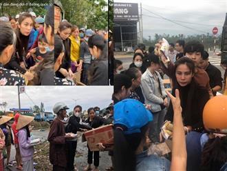 Xúc động cảnh Thủy Tiên tận tay trao quà cho bà con vùng lũ, tiền cứu trợ đã chạm mốc 10 tỷ