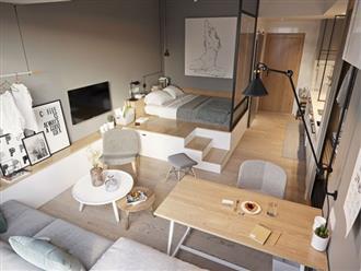 Ý tưởng thiết kế căn hộ kiểu studio 25m² nhỏ xinh, chất ngất ai nhìn cũng mê tít