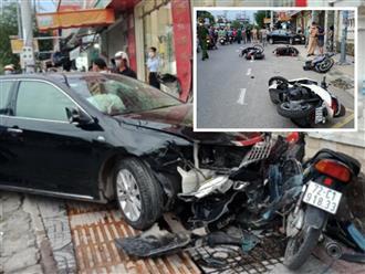 Vũng Tàu: Ô tô Camry lao không phanh, húc văng hàng loạt xe máy khiến nhiều người b.ị th.ương