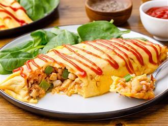 Cách làm cơm cuộn trứng omurice Nhật Bản đẹp mắt, đúng vị