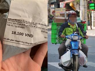 Một shipper bị khách hàng 'phẫn nộ' vì tự ý thu thêm 900 đồng của khách