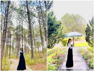 Đăng ảnh đi du lịch Đà Lạt, bà xã Quyền Linh được 'khen lấy khen để' vì vẻ ngoài 'lên hương'