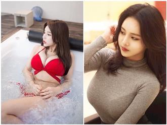 'Bùng cháy' với vòng 1 ngoại cỡ, chỉ chực chờ 'nhảy ra ngoài' sau lớp áo mỏng tang của 2 hot girl có body 'căng đét' xứ Hàn