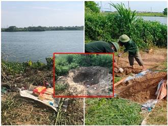 Hiện trường phi tang xác chủ nợ mất tích bí ẩn ở Hải Dương: Nhiều miệng hố ven sông, chân nhang còn vương vãi