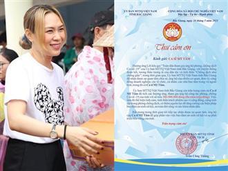 Mỹ Tâm âm thầm ủng hộ 300 triệu đồng chống dịch COVID-19, tỉnh Bắc Giang 'ra mặt' thông báo khiến dân tình ngỡ ngàng