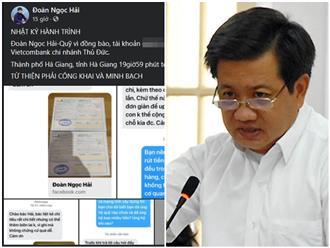 Bị nhắn tin chất vấn sao kê tiền từ thiện, ông Đoàn Ngọc Hải đáp trả khiến dân mạng 'co giò chạy trốn'