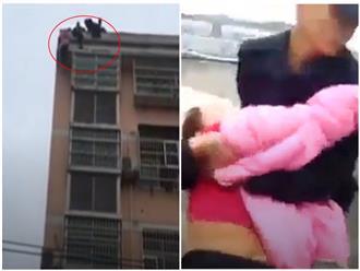 'Nghìn cân treo sợi tóc': Vợ nhảy lầu tự tử từ tòa nhà 20 tầng, chồng phi thân túm tóc kéo lên bằng được