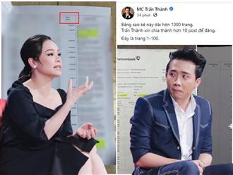 'Sao kê' trở thành vấn đề 'nhạy cảm': Nhật Kim Anh vừa tung 40 trang, 1.000 tờ của Trấn Thành liền 'dính đạn', cư dân mạng 'vạch' ra điểm lạ kỳ dù cùng một ngân hàng