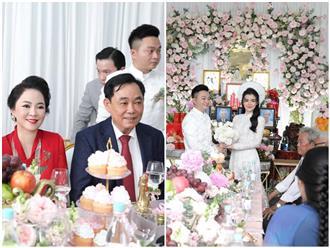 Hé lộ toàn cảnh lễ đính hôn 'bí mật' của con trai bà Nguyễn Phương Hằng: Lễ cưới hỏi nhà đại gia Đại Nam có gì khác?