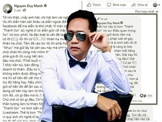 'Thợ hát' Duy Manh tiếp tục 'mách nước' cho nghệ sĩ Việt nếu lỡ 'ỉm' tiền từ thiện: 'Cất thật kỹ vào... Mặc kệ cho thiên hạ chửi chán thì cũng mỏi mồm thôi'