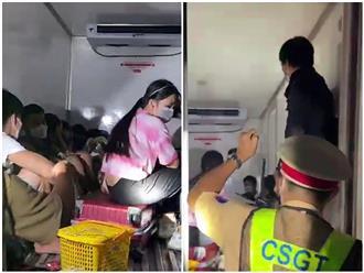 Thông tin mới nhất vụ 15 người 'chen chúc' trong thùng đông lạnh của xe để thông chốt kiểm dịch