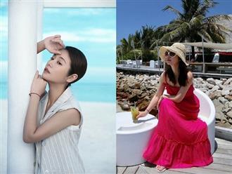 Bỏ ngoài tai mọi tin đồn, Lâm Tâm Như tự tin khoe nhan sắc ngọt ngào trên biển Maldives
