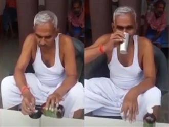Chính khách Ấn Độ chia sẻ bí quyết phòng ngừa COVID-19 bằng cách uống nước tiểu bò