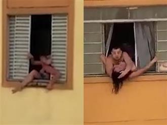 Clip: Đang mang thai nhưng người phụ nữ vẫn nhảy ra khỏi cửa sổ vì một lý do đau lòng
