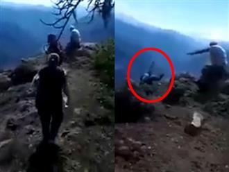 Kinh hoàng: Con rể vô tình quay được cảnh mẹ vợ 71 tuổi bị rơi xuống vách núi cao 70 mét