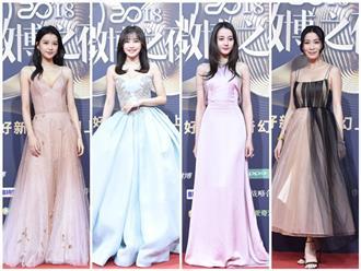 Xa Thi Mạn, Tần Lam, Tôn Di, Địch Lệ Nhiệt Ba lộng lẫy trên thảm đỏ 'Đêm hội Weibo'