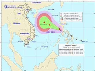 Áp thấp nhiệt đới mạnh lên thành bão số 13
