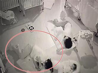 Clip: Bảo mẫu đè lên người bé trai 11 tháng tuổi ép ngủ trưa khiến cậu bé chết thương tâm